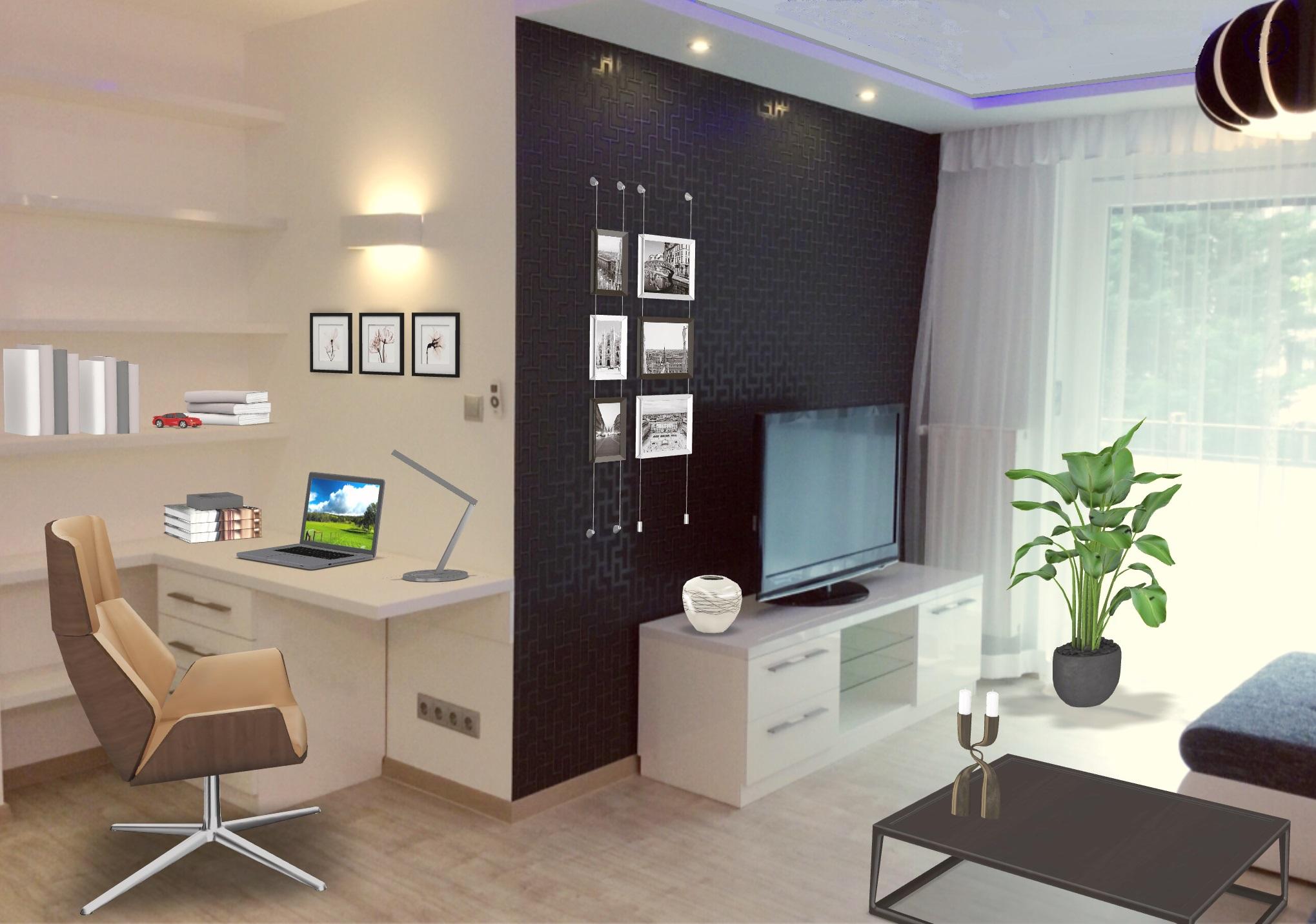 Nappali és home office