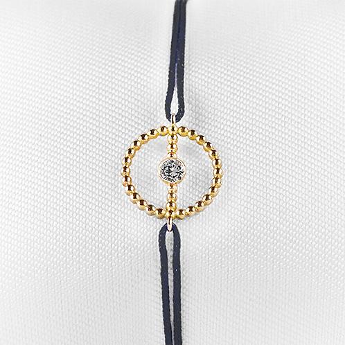 ALICE & MOIS - Bracelet Félicité Or perlé - Diamant
