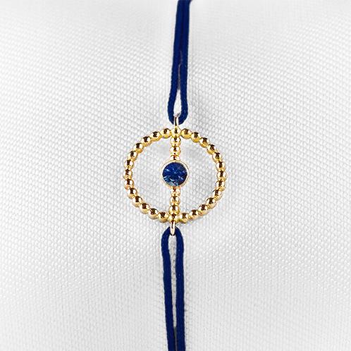 ALICE & MOIS - Bracelet Félicité Or perlé - Saphir