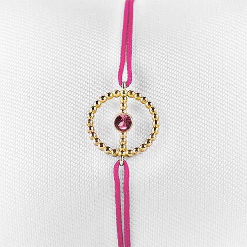 ALICE & MOIS - Bracelet Félicité Or perlé - Tourmaline