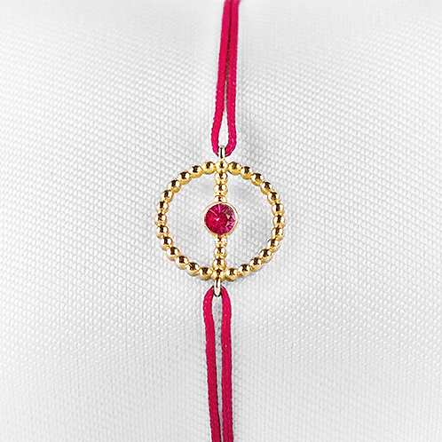 ALICE & MOIS - Bracelet Félicité Or perlé - Rubis