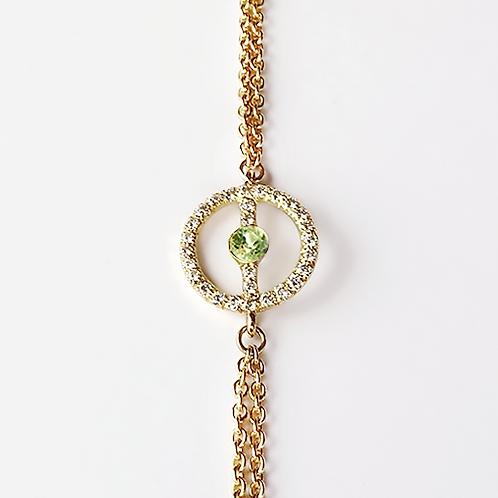 ALICE & MOIS - Bracelet Félicité Diamants - Péridot