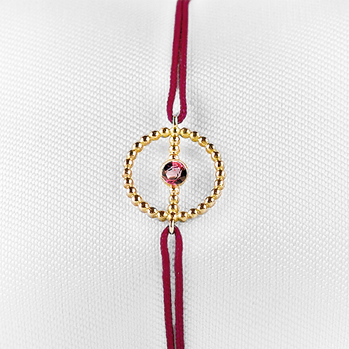 ALICE & MOIS - Bracelet Félicité Or perlé - Grenat