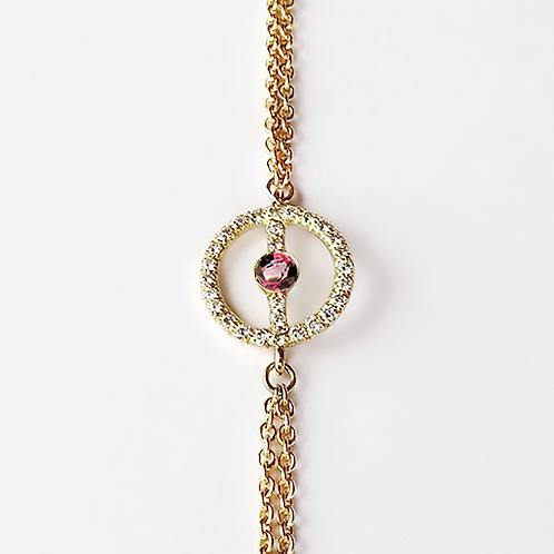 ALICE & MOIS - Bracelet Félicité Diamants - Grenat