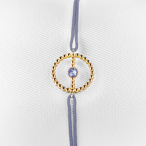 ALICE & MOIS - Bracelet Félicité Or perlé - Tanzanite