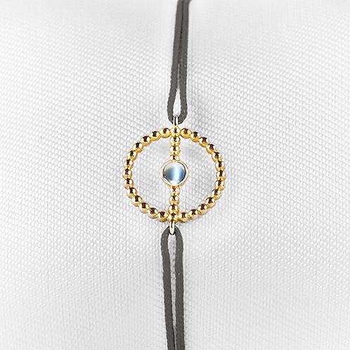 ALICE & MOIS - Bracelet Félicité Or perlé - Pierre de lune