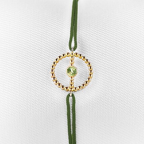ALICE & MOIS - Bracelet Félicité Or perlé - Péridot