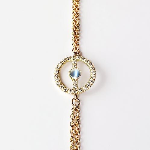 ALICE & MOIS - Bracelet Félicité Diamants - Pierre de lune