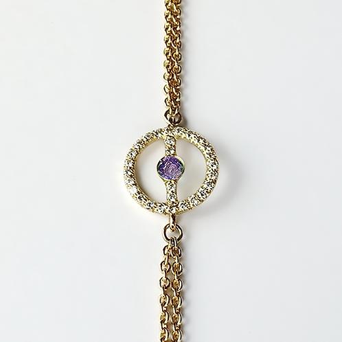 ALICE & MOIS - Bracelet Félicité Diamants - Améthyste