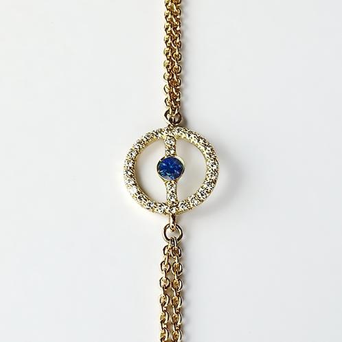 ALICE & MOIS - Bracelet Félicité Diamants - Saphir