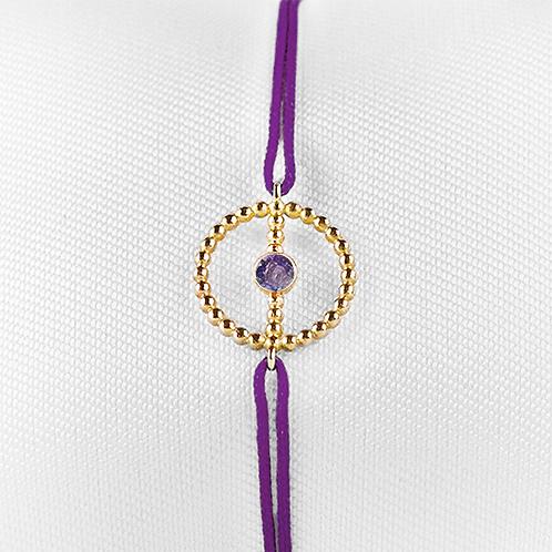 ALICE & MOIS - Bracelet Félicité Or perlé - Améthyste