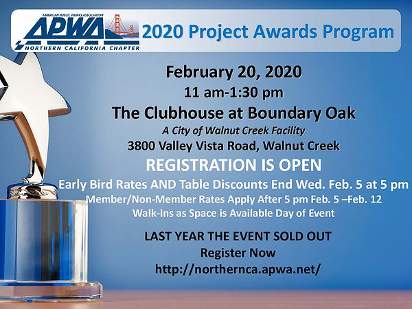 Registration is Open_APWA NORCAL PROJECT
