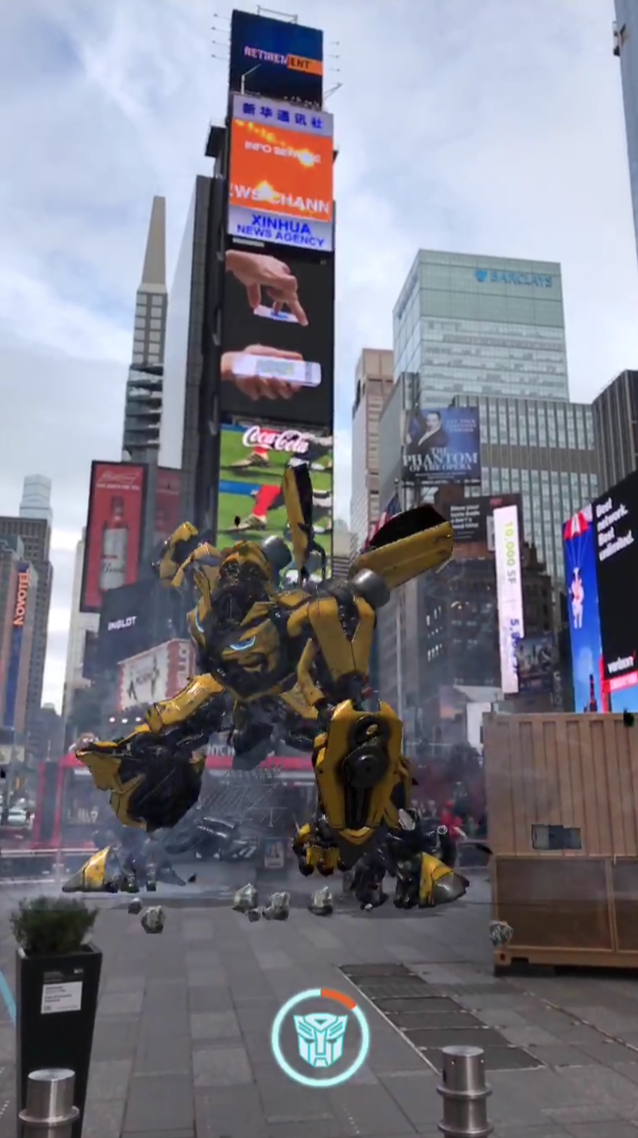 BUMBLEBEE-x-Times-Square