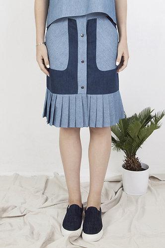 jupe color block KENZA
