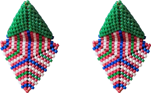 boucles d'oreille vert HYPNO