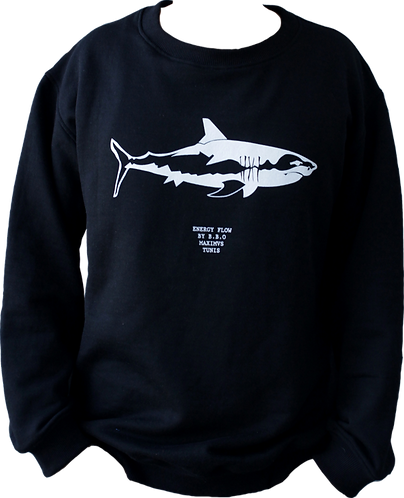 sweat noir requin