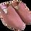 Thumbnail: babouches cuir rose écaillé vernis