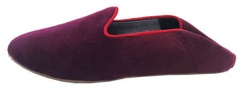 babouches velours bordeaux