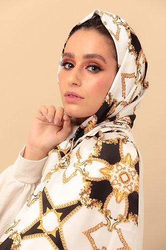 foulard BABUSHKA blanc