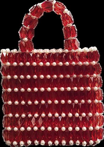 sac carré perles