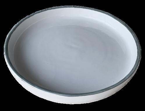 assiette creuse bords métal L