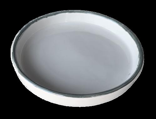 assiette creuse bords métal M