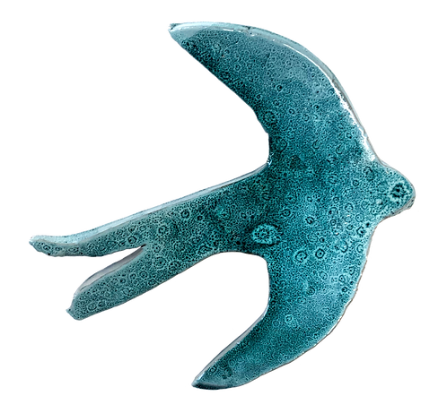 hirondelle céramique bleu lagon M