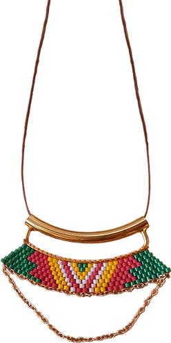 collier perles AFRICAIN