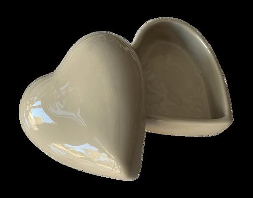 boîte coeur céramique