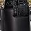 Thumbnail: sac seau cuir noir JAY