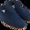 Thumbnail: babouches homme cuir mat bleu denim