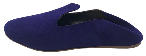 babouches cuir ultra violet