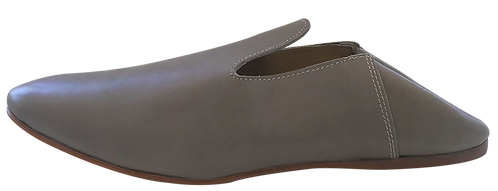 babouches homme cuir beige