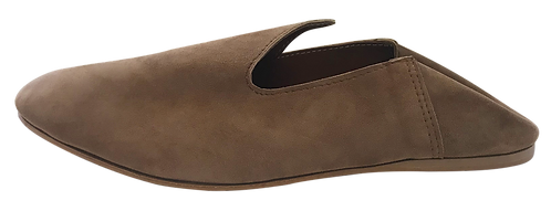 babouches homme daim camel