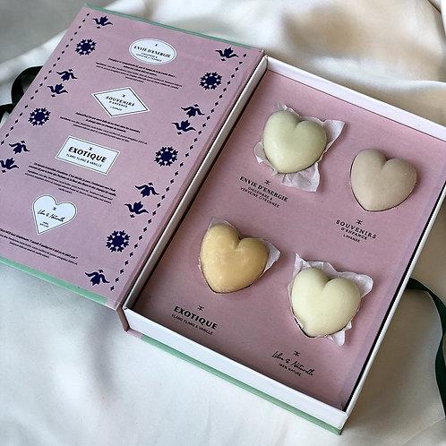 Coffret crème solide coeur