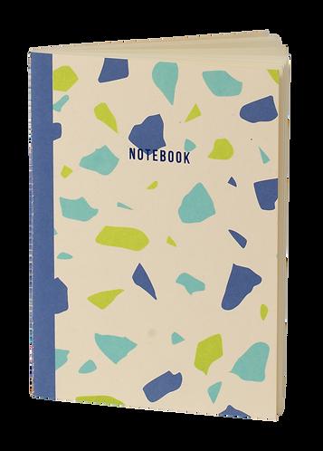 notebook terrazzo blanc et bleu