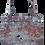 Thumbnail: totebag brocard argenté rouge