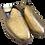 Thumbnail: babouches cuir doré brillant