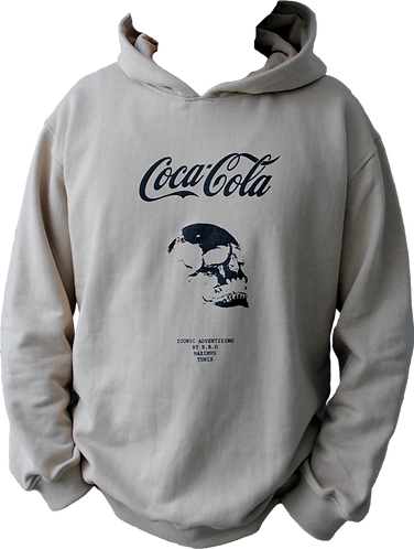 sweat capuche beige coca-cola