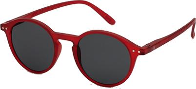 lunettes SUN D rouge
