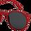 Thumbnail: lunettes SUN D rouge