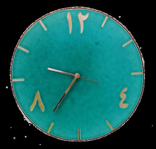 horloge murale turquoise