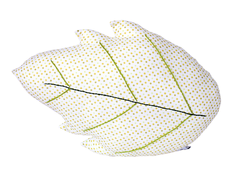 coussin feuille pois