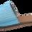 Thumbnail: mules bandeau chevrons turquoise LELLA