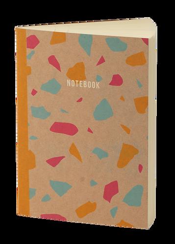 notebook terrazzo craft orange