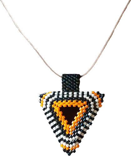 collier perles SNAKE