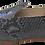Thumbnail: babouches cuir python gris et talon noir