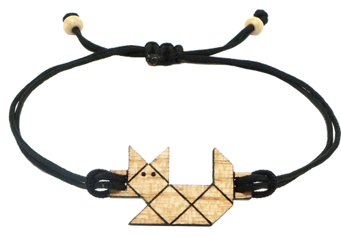 bracelet cordon chat