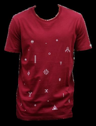 t-shirt bordeaux AHIJAM