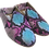 Thumbnail: babouches cuir python rose/turquoise